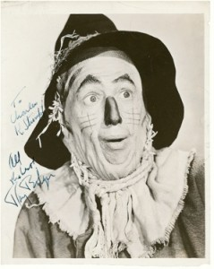Signed Wizard of Oz Scarecrow