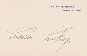 Calvin Coolidge Signature