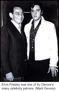sy devore and elvis presley
