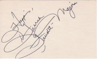 Farrah Fawcett Majors Vintage Autograph