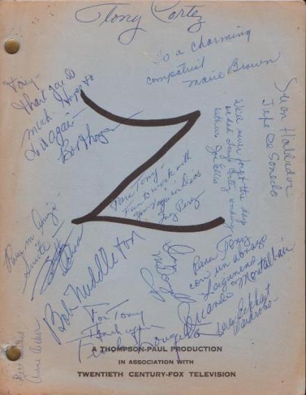 Zorro signed <a href=