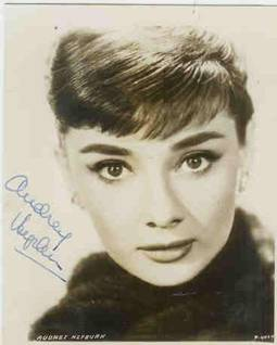 Audrey Hepburn Autographed 4 x 5 Photo
