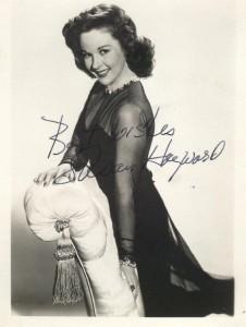 Susan Hayward Signed Vintage Photograph