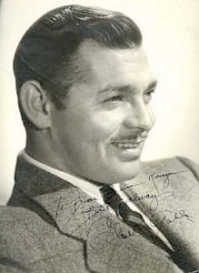 Clark Gable Signed Vintage Photograph