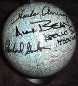 AUTOGRAPHED APOLLO 12 MOON GLOBE