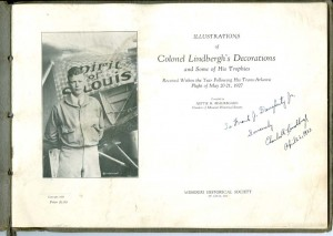 Charles A. Lindbergh Rare Signed Book!