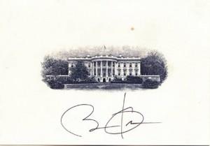 barack obama autograph
