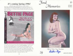 Bettie Page Autograph
