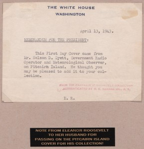 Letter to FDR from Eleanor Wife