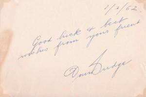 Don Budge Autograph