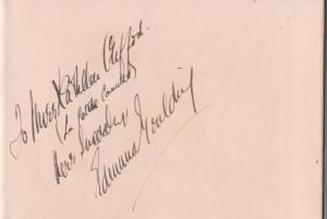 Edmund Goulding Signed Book