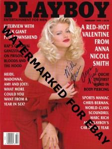 Anna Nicole Signed Playboy