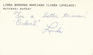 Linda Lovelace Autograph