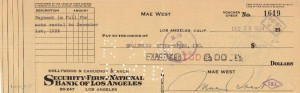 MAE WEST SIGNATURE