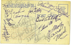 The Derby Autographed postcard