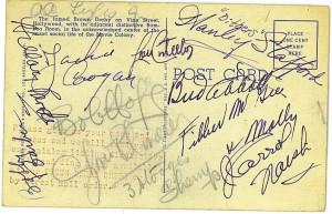 The Derby Autographed postcard