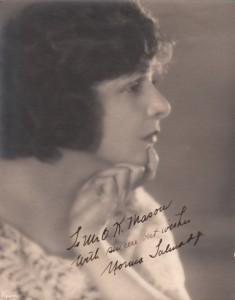 Norma Talmadge Autograph
